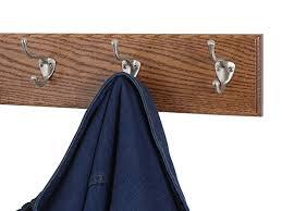 Nickel Coat Rack Amazon Solid Oak Wall Mounted Coat Rack with Satin Nickel Wall 77