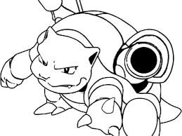 44 Blastoise Coloring Pages Pokemon Blastoise Coloring Pages