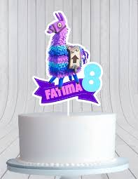 Fortnite Llama Birthday Cake Topper Cmpartycreations