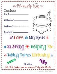 friendship recipe template. Friendship Soup Teaching Resources Teachers Pay Teachers
