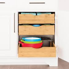 Add Drawers To Kitchen Cabinets Cabinet Drawers Bamboo Pull Out Cabinet Drawers The Container