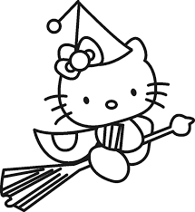Small Picture Hello Kitty Little Witch Coloring Pages Cartoon Coloring Pages