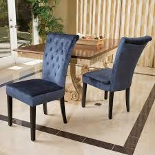 charlotte crush velvet dining chair set of 2 by christopher knight home