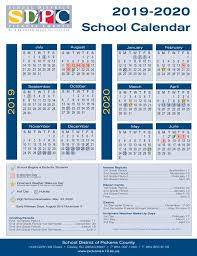 2019 2020 School Calendar Pickens County School District