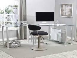 office glass desk. glass office desk with drawers for home r