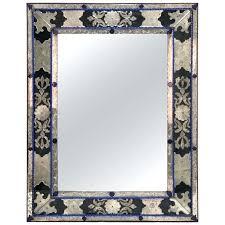 venetian mirror antique in blue clear and black glass mirrored furniture australia venetian mirror