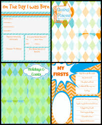 Baby Book Template Printable Baby Book Pages Free Download