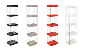 glass shelving unit black white red grey high gloss shelves chrome