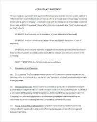 Free Freelance Consultant Contract Template Download – Monister