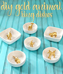 diy projects with old plates and dishes gold animal ring dishes creative home decor