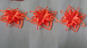 Paper Flower Designs How To Make Simple Easy Paper Cutting Flower Designs Paper Flower Diy Tutorial By Step By Step