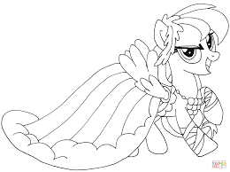 Small Picture My Little Pony Rainbow Dash coloring page Free Printable
