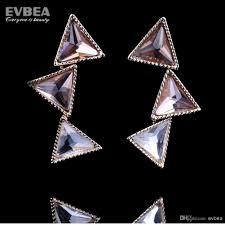 2018 triangle earrings drop earrings austrian crystal chandelier earrings gold drop chandelier earrings crystals rhinestone triangle earrings from evbea