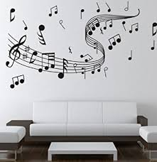 Small Picture Amazoncom Dailinming WALLS MATTER Home Decor Music Note Wall