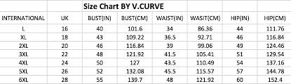 Plus Size Clothing Size Chart Size Chart Plus Size Clothes Online Shop Singapore Large