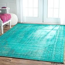 vintage inspired turquoise rug nuloom overdyed