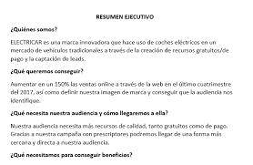 Ejemplo De Resumen Ejecutivo De Un Plan De Marketing