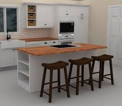 Idea Kitchen Island This White Ikea Kitchen Island Includes A Cooktop To Provide With
