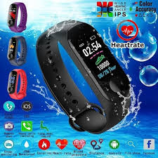 M3 <b>Smart Watch Fitness Bracelet</b> Color Screen IP67 Waterproof ...