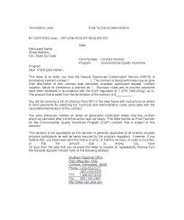 Letter To Terminate A Contract Resume Web