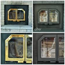 Inside Fit Fireplace Doors  Hot StoversBlack Fireplace Doors