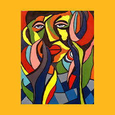 african traditional tribal women abstract art canvas painting 3 african abstract art paintings