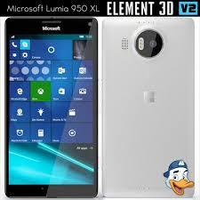 microsoft lumia 950. microsoft lumia 950 xl for element 3d model