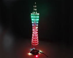 picture of build a colorful led tower display rhythm lamp light diy kits