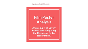 film poster analysis film poster analysis analysing the lovely bones and comparing the film poster to the