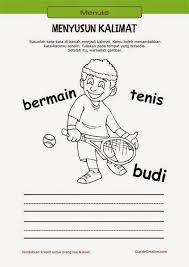 Belajar menulis untuk anak tk tema hewan portal ilmu com. Belajar Anak Menyusun Kalimat Belajar Pendidikan Anak