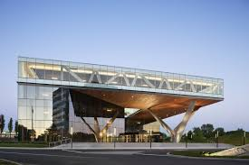 office exterior design. Amazing Original Shape Office Building In New Jersey Home: Marvelous Originally Shaped Modern Exterior Design