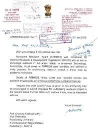Project Proposal Gorgeous Proposal Invited For Undertaking Research Project DRDO