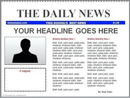 News Story Outline Template Newspaper Article Format Outline Template Mediaschool Info