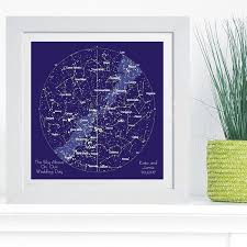 Constellation Star Chart In Box Frame Ideal And Unique Wedding Or 1st Anniversary Gift