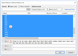 How To Export Outlook Global Address List Address Book To Excel