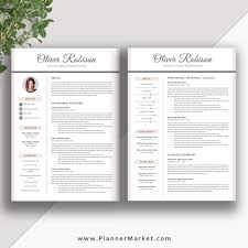 Cover Pages For Resume Professional Resume Template CV Template 24 Page Creative Resume 21