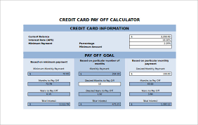 Minimum Credit Card Payment Sample Credit Card Payment Calculator 8 Documents In Excel