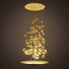 33 ingenious glass ball light fixture post modern led chandelier restaurant staircase coffee art creative fashion hanging lamp decoration pendant
