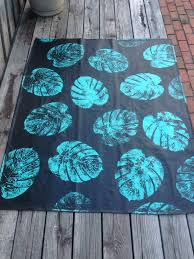 painted canvas drop cloth rug