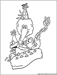 Baby Sesame Street Coloring Pages With Birthday Printable Coloring