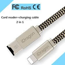 2 in 1 apple mfi certified lightning to usb cable micro sd card reader for ios iphone