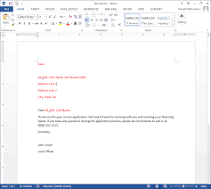 Word In Red Creating The Word Document