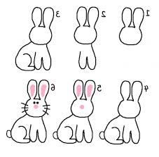 Simple Bunny Drawing Rabbit Coloring Pages Getcoloringpages ...