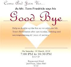 Invitation For Farewell Party Wording