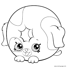 Cute Donut Dog Printable Petkins Shopkins Coloring Pages Printable