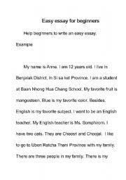english worksheets easy essay english worksheet easy essay