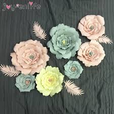 Paper Flower Suppliers Us 3 77 16 Off Aliexpress Com Buy Joy Enlife 2pcs Wedding Decoration 20cm Paper Flowers Artificial Rose Flowers Diy Crafts Birthday Party Home