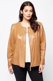 joanna hope camel leather jacket limited edition designer stock