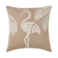 mercer reid saint tropez cushion natural white flamingo