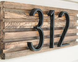 btw this address plaque looks amazing on her farmhouse style home so you don t have to have a modern house for this style to work
